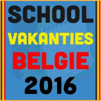 De datums van de Belgische schoolvakanties voor het kalender jaar 2016 via http://www.feestdagen-belgie.be/schoolvakanties-2016-belgie