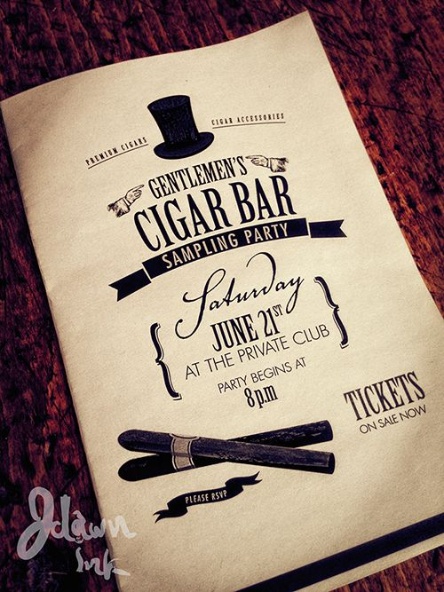 Cigar Sampling Party Invitation Design Template By