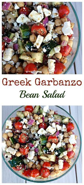 This Greek Garbanzo Bean Salad is refreshing, healthy, filling and delicious!