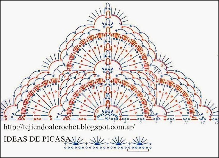 123 best images about bufandas chales picos ponchos - Patrones para hacer patchwork ...