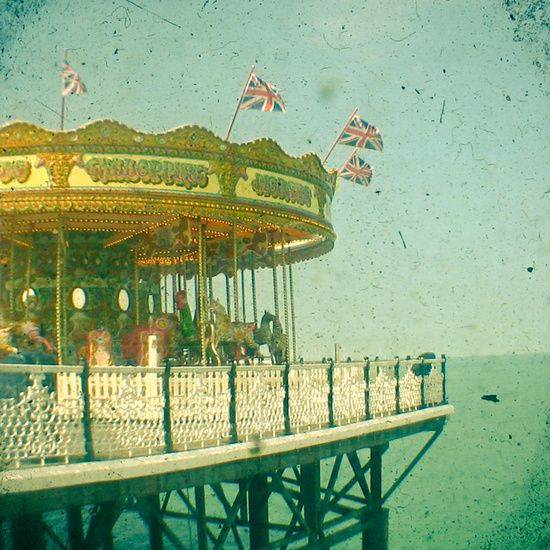 Poster | CAROUSEL BY THE SEA von Cassia Beck | more posters at http://moreposter.de