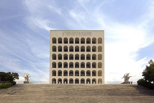 Palazzo della Civilta Italiana designed by Giovanni Guerrini, Ernesto Bruno La Padula, Mario Romano. Rome