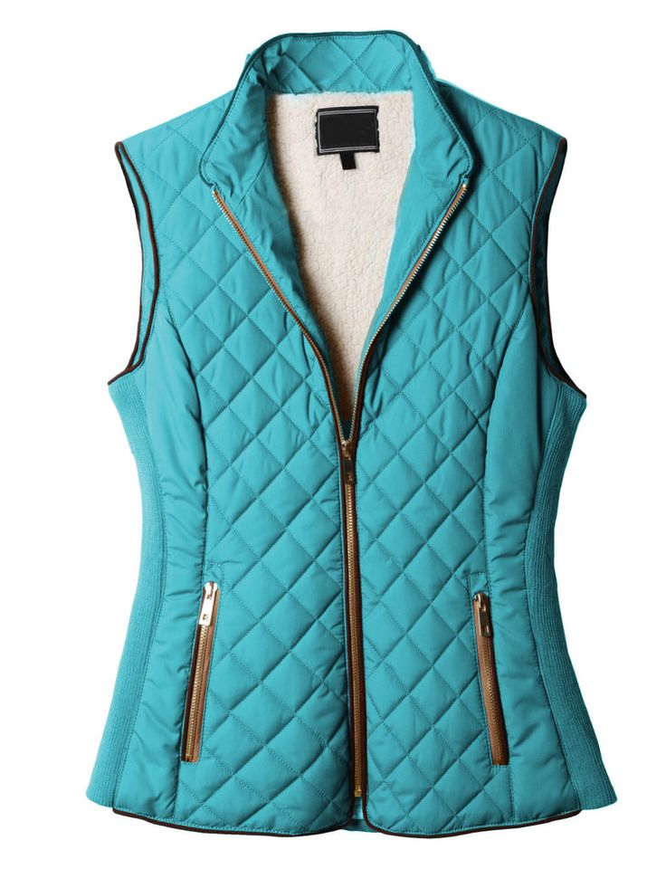 Lightweight Quilted Puffer Jacket Vest With Pockets In