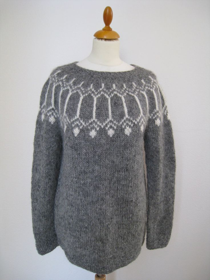 """Handmade Icelandic wool sweater or """"Lopapeysa"""" as we call it, knitted in Iceland. by KnittingDidi on Etsy"""