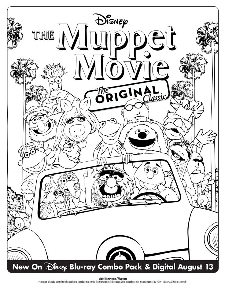 muppet movie coloring pages - photo#4