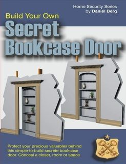 Secret hidden bookcase door plans. Everything you need to build your own secret bookcase door. Standard heavy duty hinges, simple wood working skills and a few basic tools. This bookcase door should only cost a couple hundred dollars to build and will look and function like a custom built unit.
