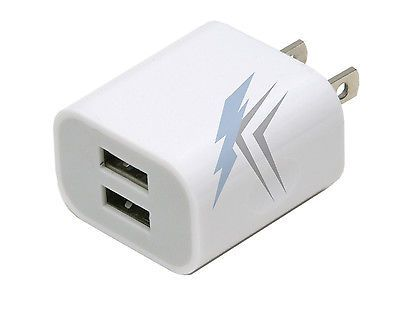 Dual USB 2.1Amp Wall Charger for Apple iPad iPhone 6 6s 6+ 6+s Samsung S5 S6 S7 From ALL CITY IMPORTS