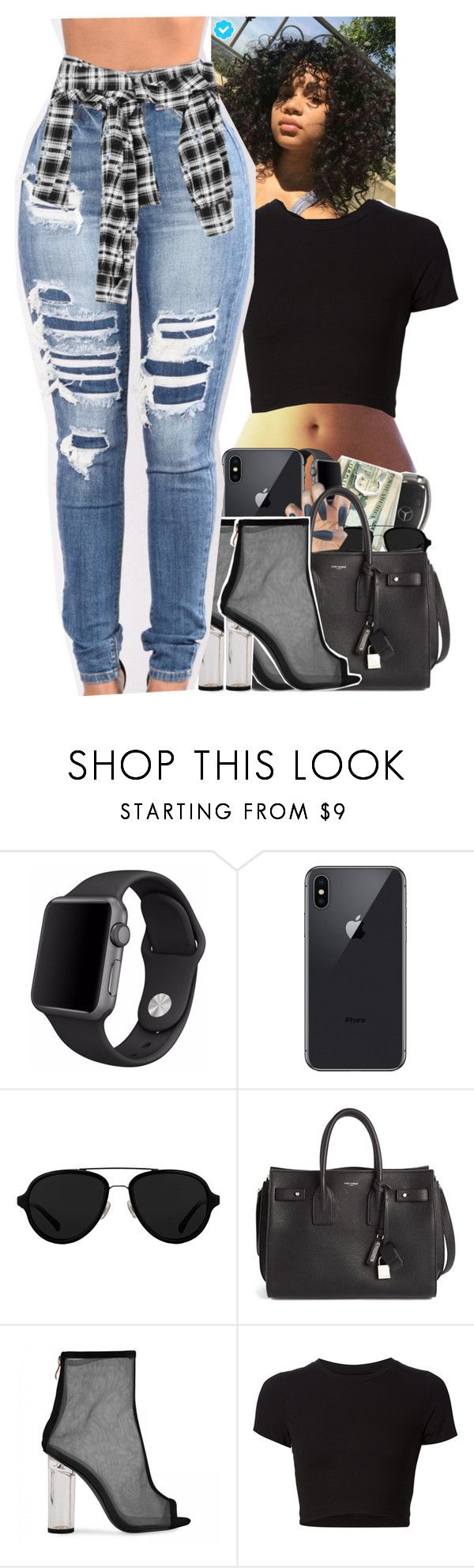 """Untitled #2388"" by txoni ❤ liked on Polyvore featuring Apple, 3.1 Phillip Lim, Yves Saint Laurent and Getting Back To Square One"