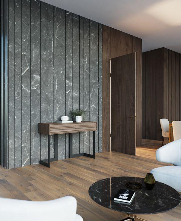 Doors Panels On Behance Wall Cladding Interior Wall Panel Design Interior