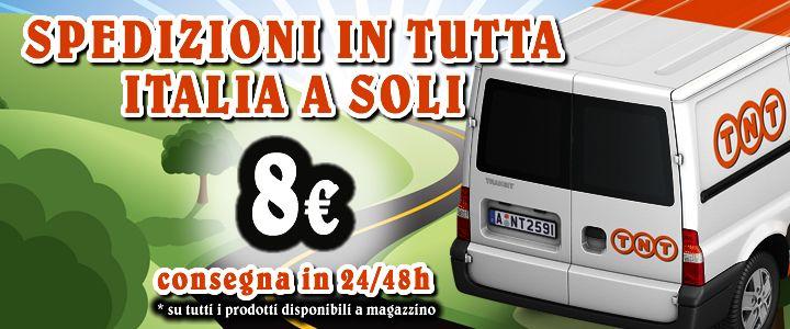 Spedizioni in tutta Italia sempre e solo a €8,00! Perchè acquistare su shop tr inox conviene sempre!