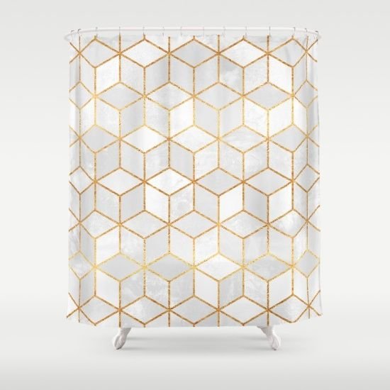 White+Cubes+Shower+Curtain+by+Elisabeth+Fredriksson+-+$68.00