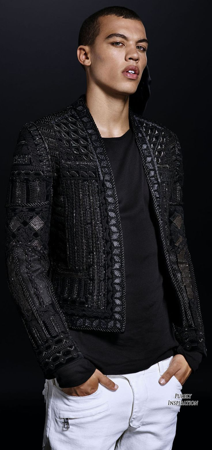 Supermodel: Dudley O'Shaughnessy@       Balmain H&M FW2015 RTW Collaboration | Purely Inspiration