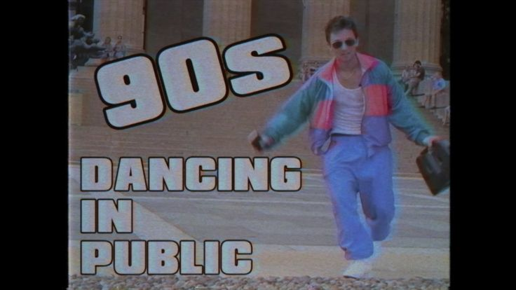 A Man Dresses in 1990s Clothes and Dances in Public to Some of the Biggest Hits of That Decade