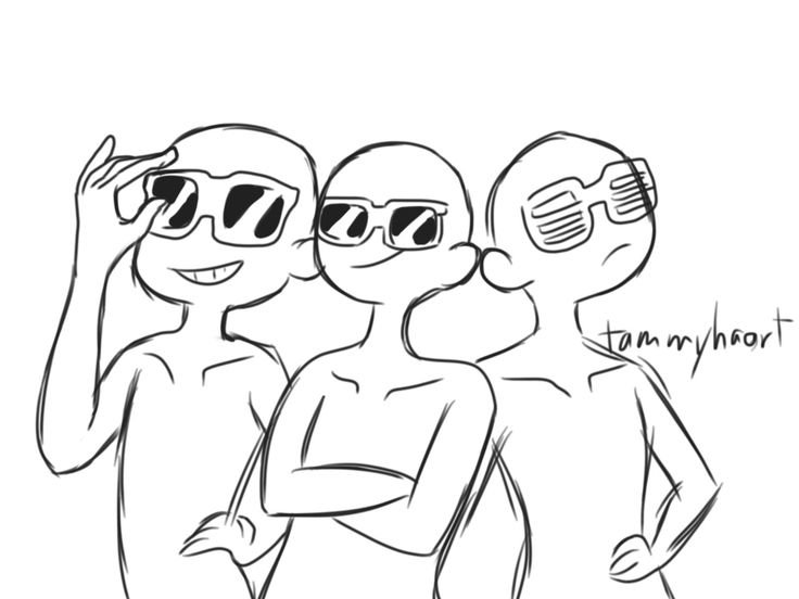 "tammyha-art:  "" Draw the squad meme !  Yep. My own.  """