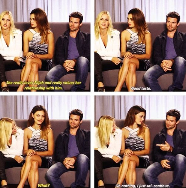 Claire Holt, Daniel Gillies, and Phoebe Tonkin