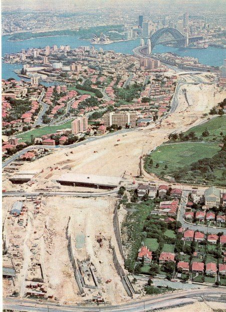 Warringah Freeway under construction, 1967  State Library NSW