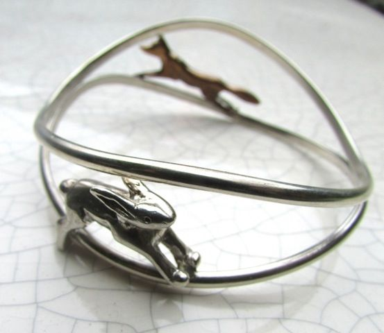 Xuella Arnold - Fox and hare bangle   Xuella Arnold will be exhibiting at BCTF 2017 on Stand 330A