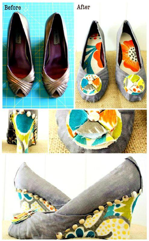 84 Best Shoe Fix Images On Pinterest Decorate Shoes Diy
