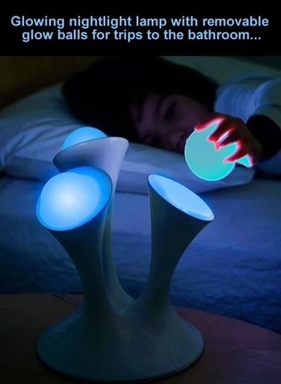 25. Nightlight with Portable Glowing Orbs great for kids!