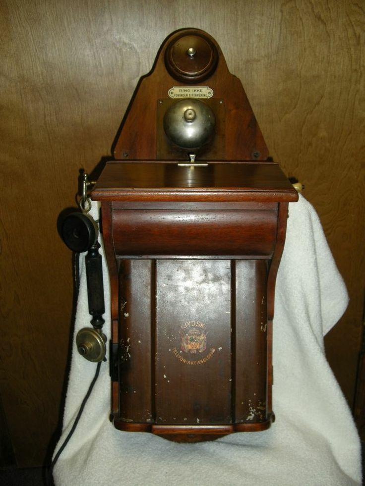 Antique wall phone RARE Jydsk TelefonAktieselskab