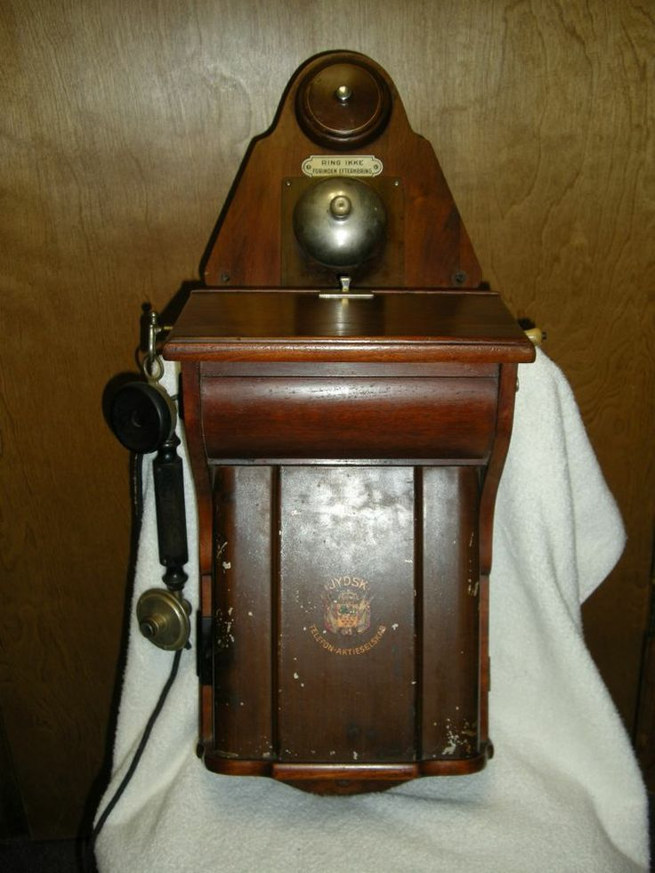 Antique wall phone, RARE Jydsk Telefon-Aktieselskab ...