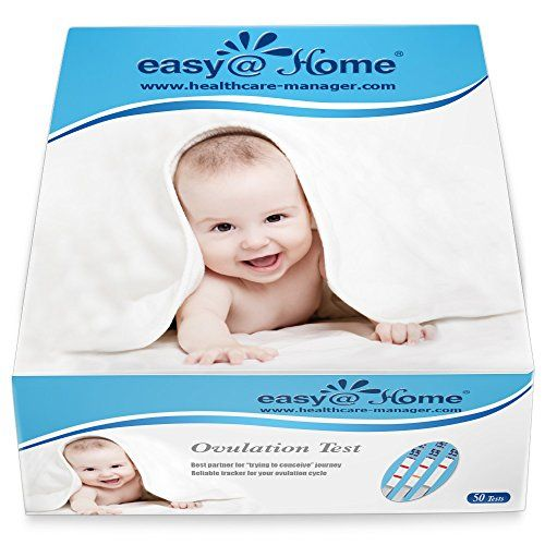 "Easy@Home 50 Ovulation Test Strips Kit - the Reliable Ovulation Predictor Kit (50 LH Test)  Specially designed for ""Trying to conceive"" women to get pregnant naturally :Ovulation tests gives woman greater chance of predicting their most fertile days, even if their cycle lengths are variable  Tracking ovulation surge with sufficient tests and minimize the chances missing the LH Surge;  Easy to test : simply dip the test in urine for 3 seconds; Easy to read and clear line help to pick up..."