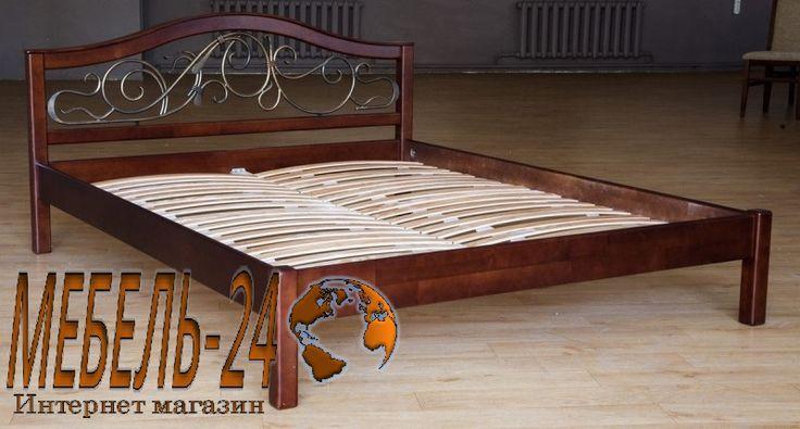 Кровать Илона (Ольха), кровати из дерева, недорого в Борисполе, Броварах, низкие цены