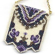 Peyote Purse Necklace Pattern. Peyote Purse Necklace (amulet bag) Pattern has full color graph and Delica numbers used.