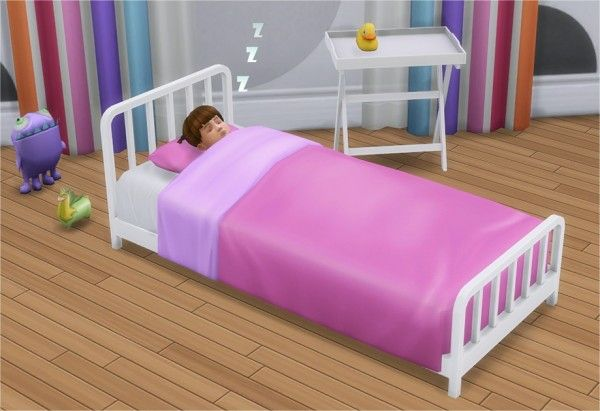 Veranka: Toddler Metal Bed Frame and Mattress • Sims 4 Downloads