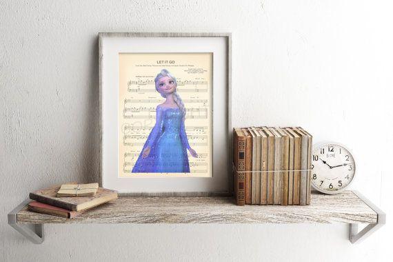Frozen Elsa Let It Go Sheet Music Art Print by AmourPrints on Etsy
