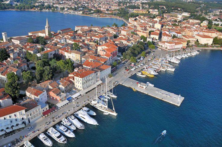 Aerial View over Porec, Croatia