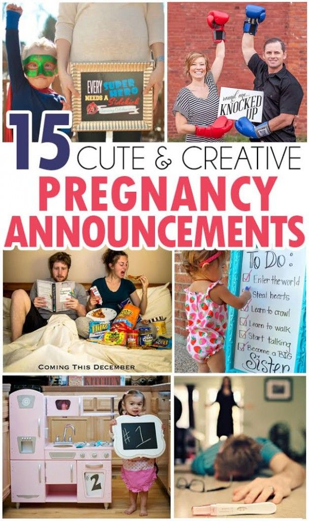 OMG! These are ADORABLE!! 15 ways to announce you're pregnant!
