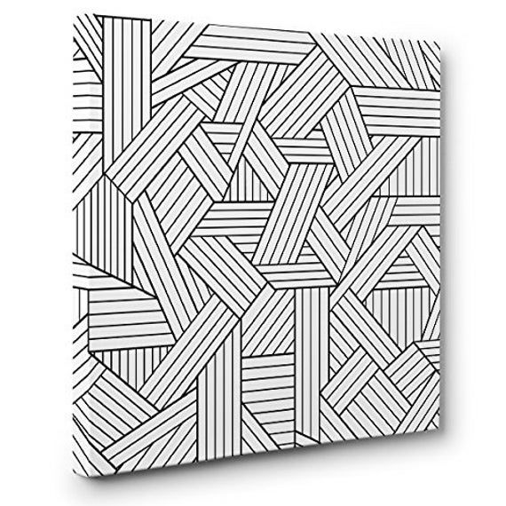 Geometric Rectangles Art Therapy Coloring Canvas Home Decor Etsy Rectangles Art Coloring Canvas Geometric