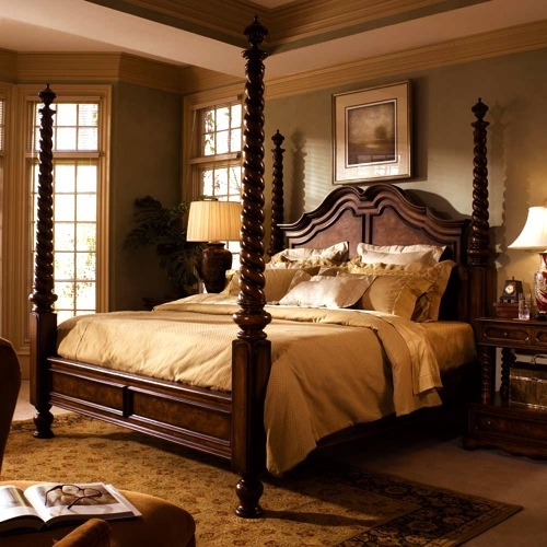 Victorian four pillar bed fourposter bed if i stay - Poster schlafzimmer ...