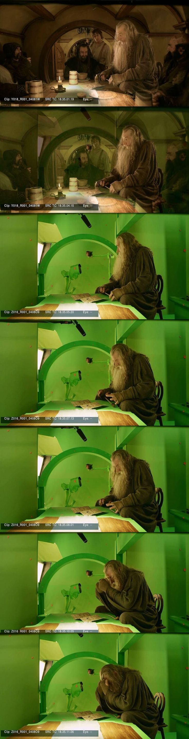 """Sir Ian McKellen broke down and cried whilst filming 'The Hobbit' because he had to film with a just a green screen instead of with other actors, he said 'this is not why I became an actor'."" :,( That's soooo sad >.<"