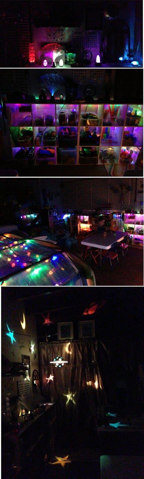 Reggio fridays playroom lighting at night