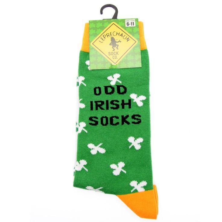 Des chaussettes colorées sous le thème irlandais!