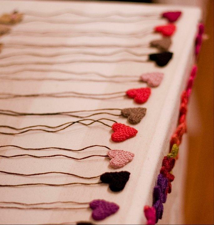 Tiny Crochet heart necklace.