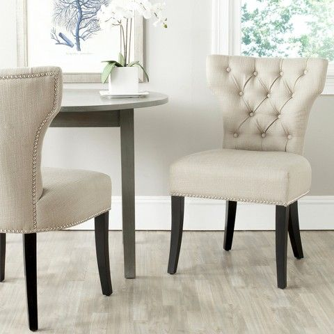 Dharma Tufted Dining Chair Wood/Beige (Set of 2) - Safavieh® - Best 20+ Tufted Dining Chairs Ideas On Pinterest Dinning Table