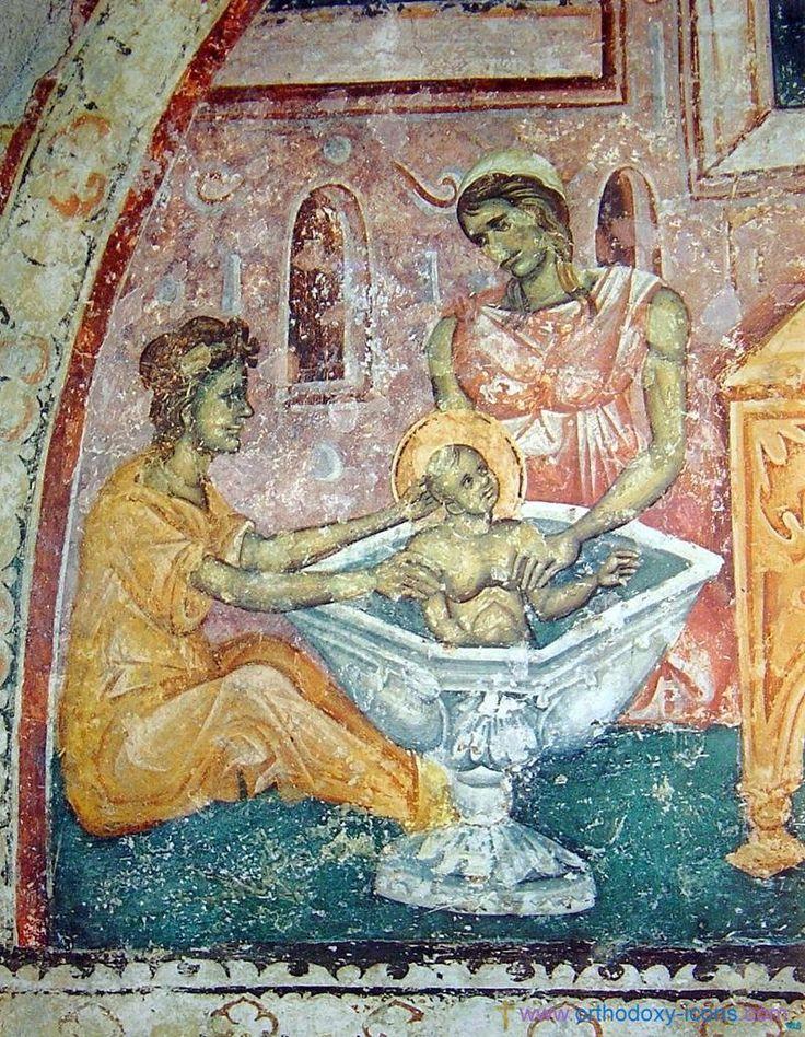 Detail Frescoes of the Church of St. Nikita. Serbia (1320)