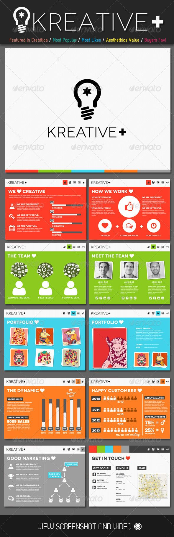 Kreative+ Infographic PowerPoint Template - Presentation Templates