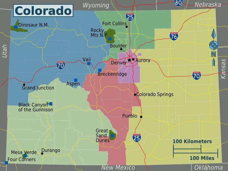 Colorado  Colorado Regions Map  Colorado Maps  My Kids