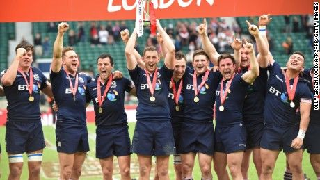 Fiji wrapped up the Sevens World Series crown without even reaching the final in London, where Scotland was the surprise victor in its first-ever title match.