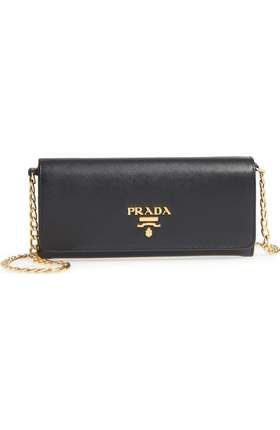 b5568487a857e9 Prada Saffiano Leather Envelope Wristlet | Nordstrom Prada Saffiano,  Leather Wallet, Zip Around Wallet