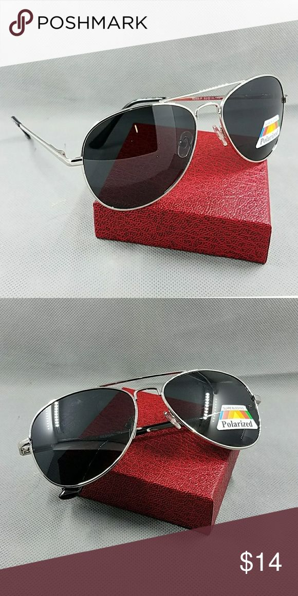 BRAND NEW HIGH QUALITY UNISEX AVIATOR STYLE POLARI BRAND NEW HIGH QUALITY UNISEX AVIATOR STYLE POLARIZED  SUNGLASSES   100% uv 400 protection   Also check on my closet for latex waist tráiner butt lifter padded panty tummy control clincher corset vest neoprene pants and shirt phone covers bags swimsuit bikini summer beach cover up black pink blue beige white gold silver chain watch necklace   58mm silver black Accessories Sunglasses