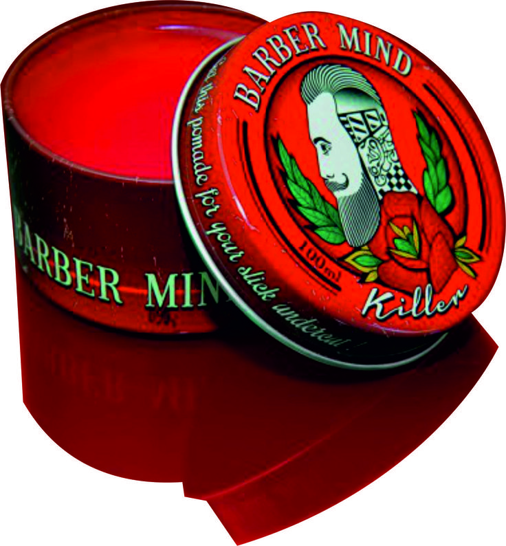 Barber Mind Killer: για λάμψη, εύκολο styling και δυνατό κράτημα  Eίναι η πομάδα με το λαμπερό φωτεινό κόκκινο χρώμα. Θεωρείται  μια αλοιφή εξαιρετική για τα μαλλιά. Μια αλοιφή που εξασφαλίζει  στυλ και κράτημα. Και είναι αυτό το  πολύ καλό  κράτημα και η γλυκιά μυρωδιά της που την κάνουν να  ξεχωρίζει πραγματικά απέναντι στον ανταγωνισμό. #barbermindkiller #pomades #koureio78 #barbershop #koureio78pomades  www.koureio78.gr