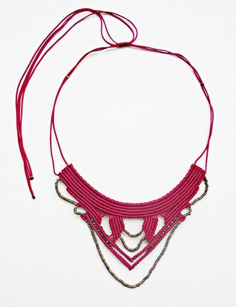 Tribal macrame necklace!  Snakearm necklace! To be honest with this necklace I had no allusion! The only common thing between my necklace and the