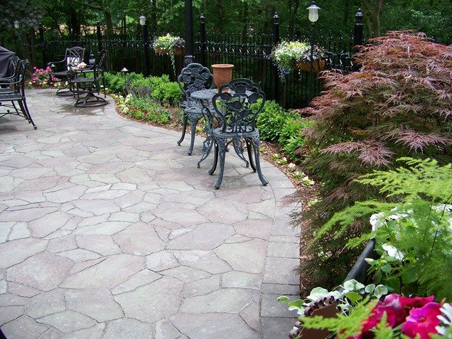 Faux Flagstone Paver Patio Patio Action Landscaping Imperial, MO Love The  Japanese Maple