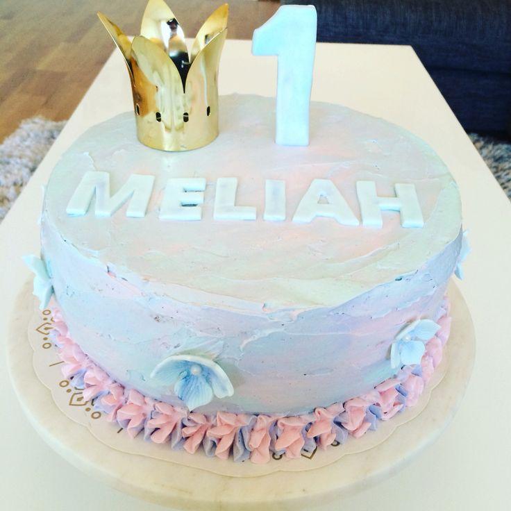 Birthdaycake Meliah one year