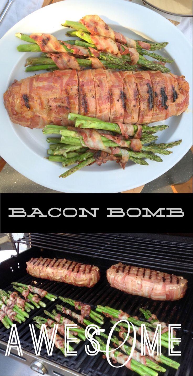 International Bacon Dag. Hvorfor ikke. Hver dag. Bacon Bomb. Med ekstra bacon.